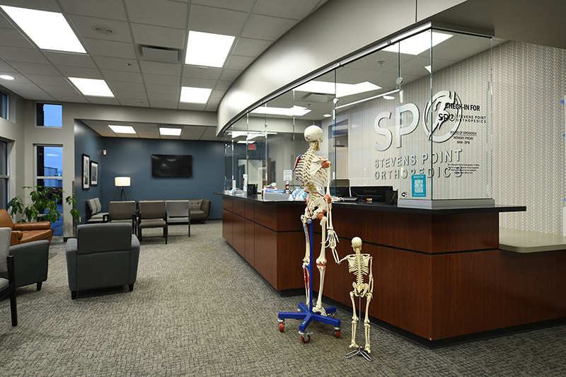 Mr Bones checking in at Stevens Point Orthopedics
