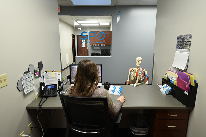 nurse's station at Stevens Point Orthopedics