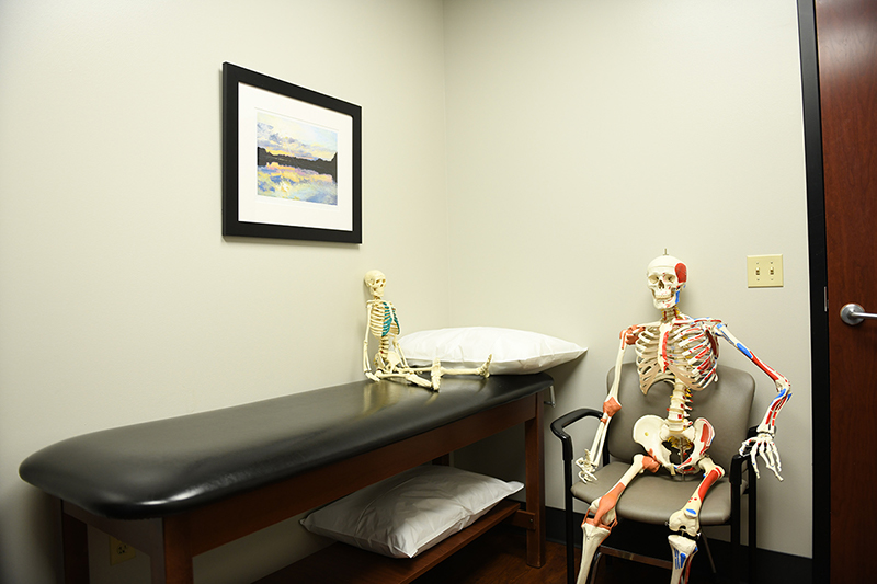 Mr. Bones in an exam room